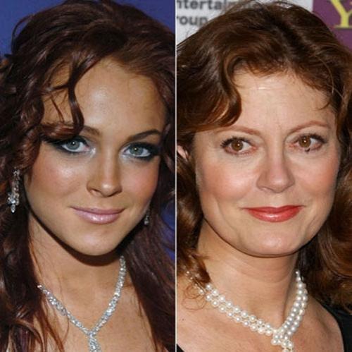 Линсдей Лохан отразилась, как в зеркале, в лице Сьюзен Сарандон...